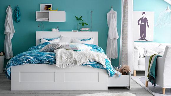 Полноценная спальня и гостиная в одной комнате