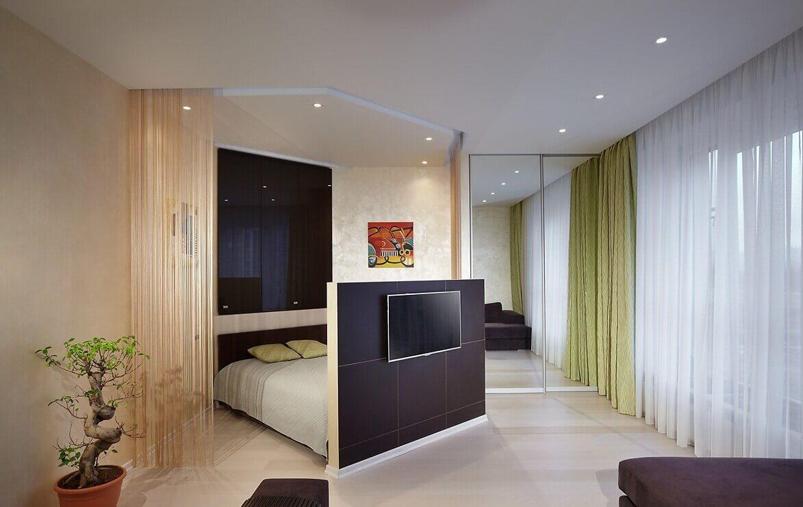Совмещенная гостиная и спальня идеи