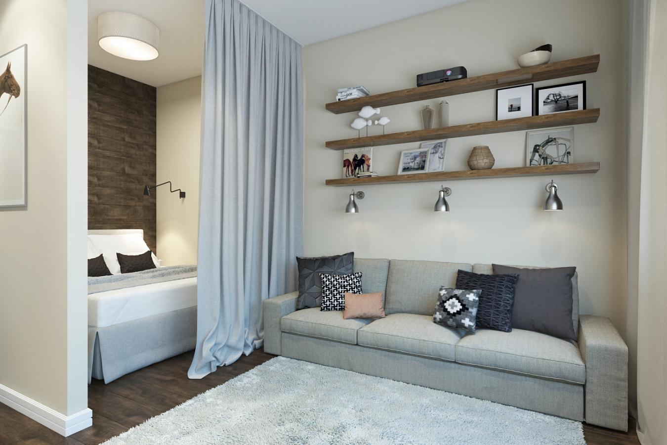 Гостиная спальня в квартире