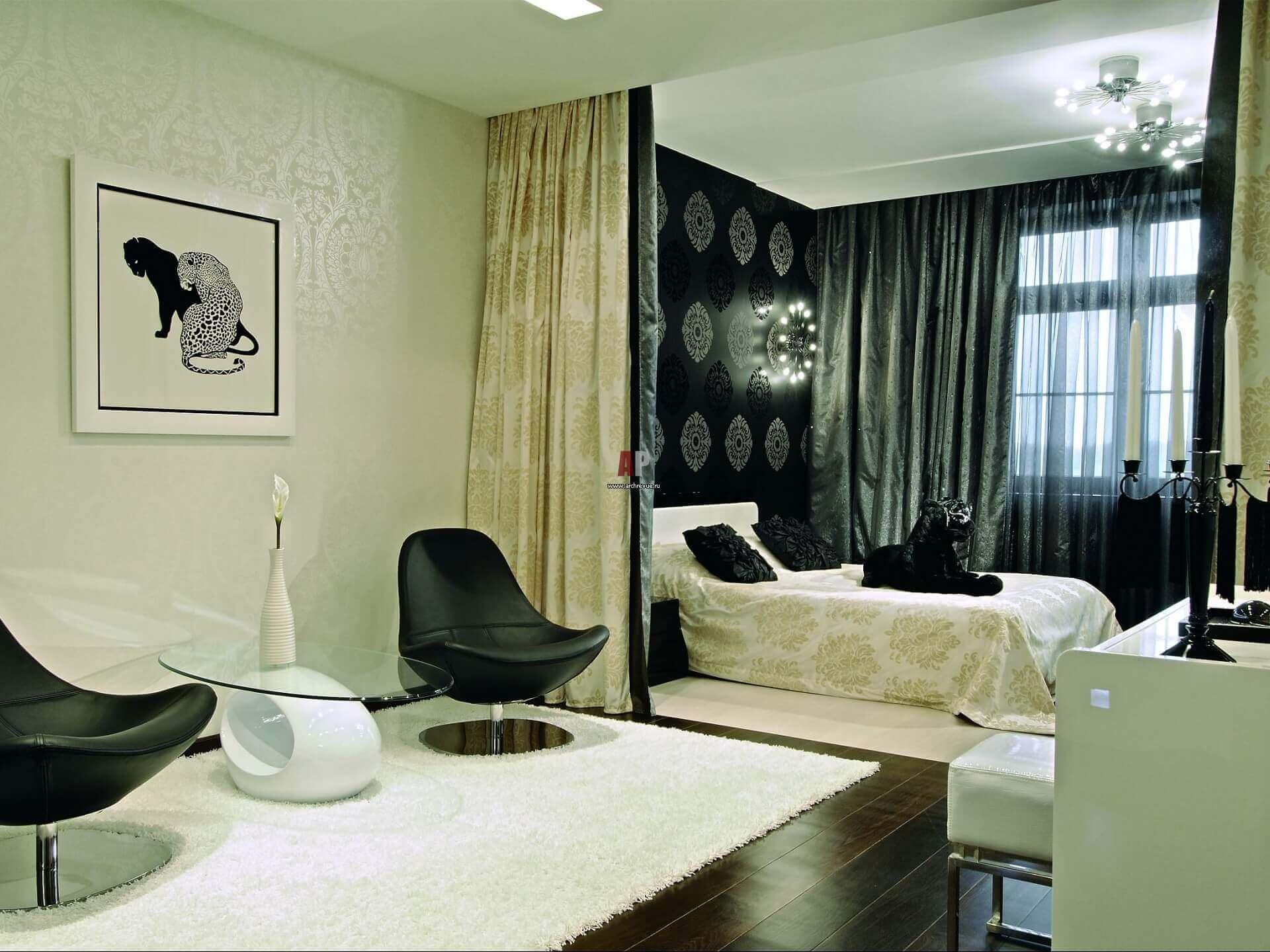 Гостиная спальня в стиле неоклассики