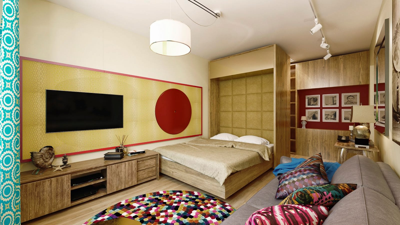 Совмещенная гостиная и спальня