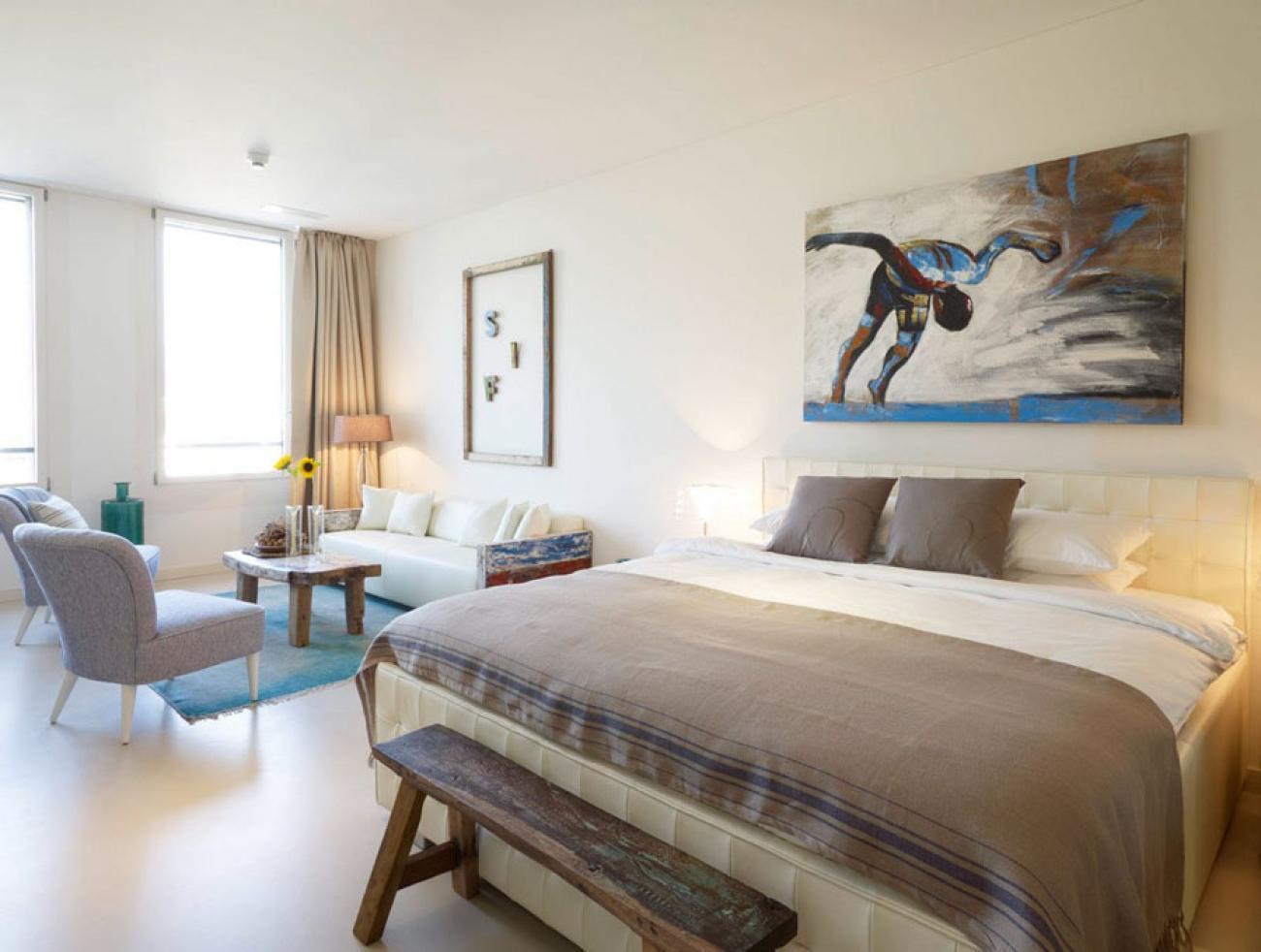 Гостиная спальня светлая