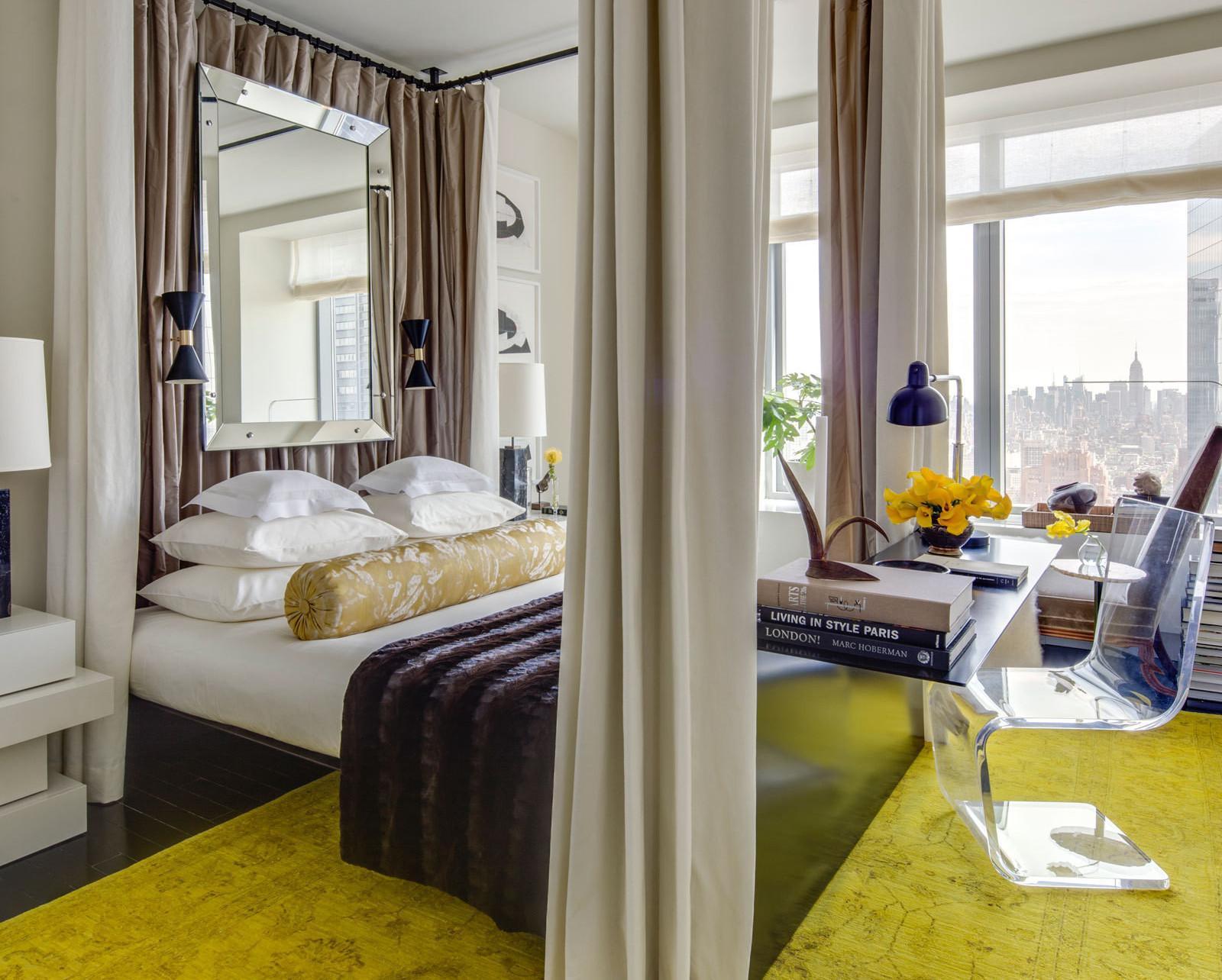 Гостиная спальня в стиле техно
