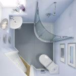 Белый интерьер ванной