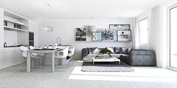 Белый интерьер в квартире студии