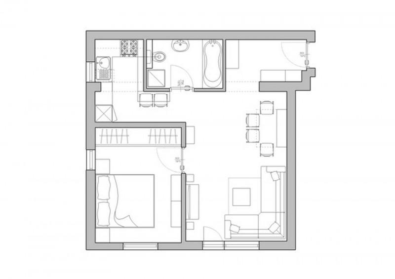 Перепланировка в двухкомнатную квартиру