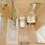 Вариант расстановки сантехники в ванной