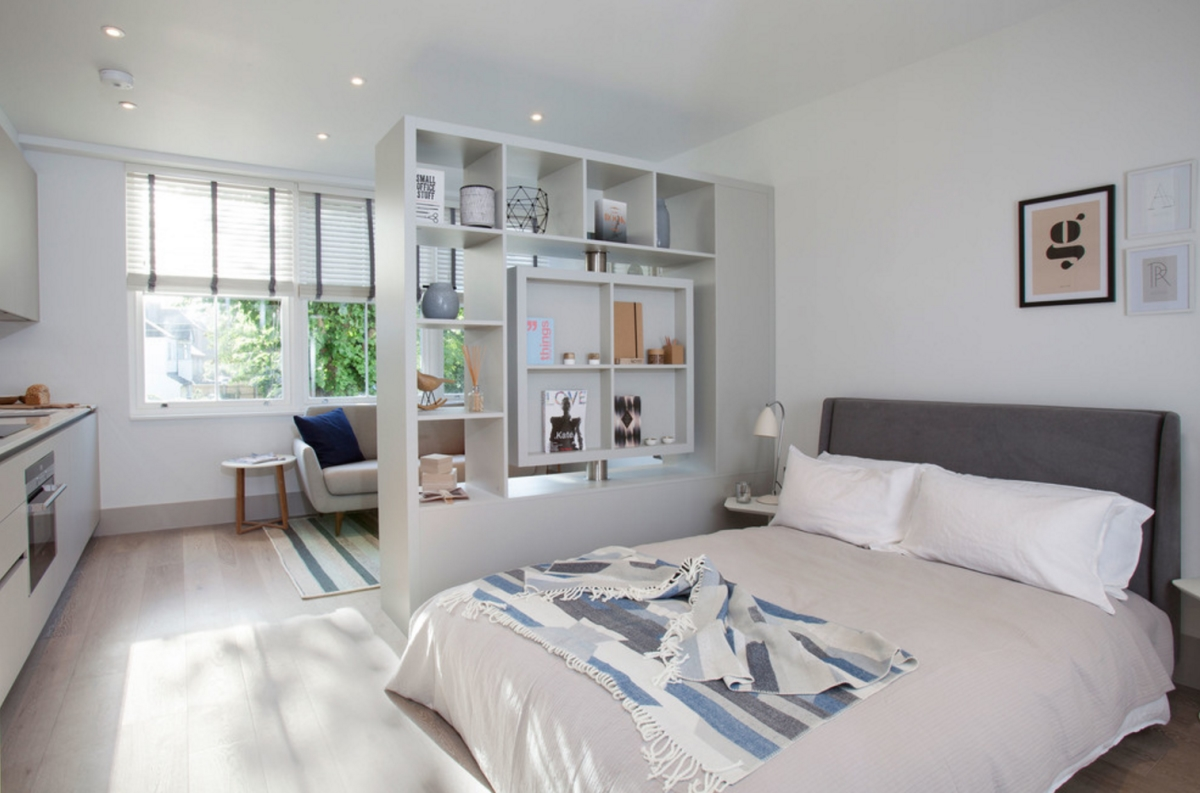 Однокомнатная квартира белая
