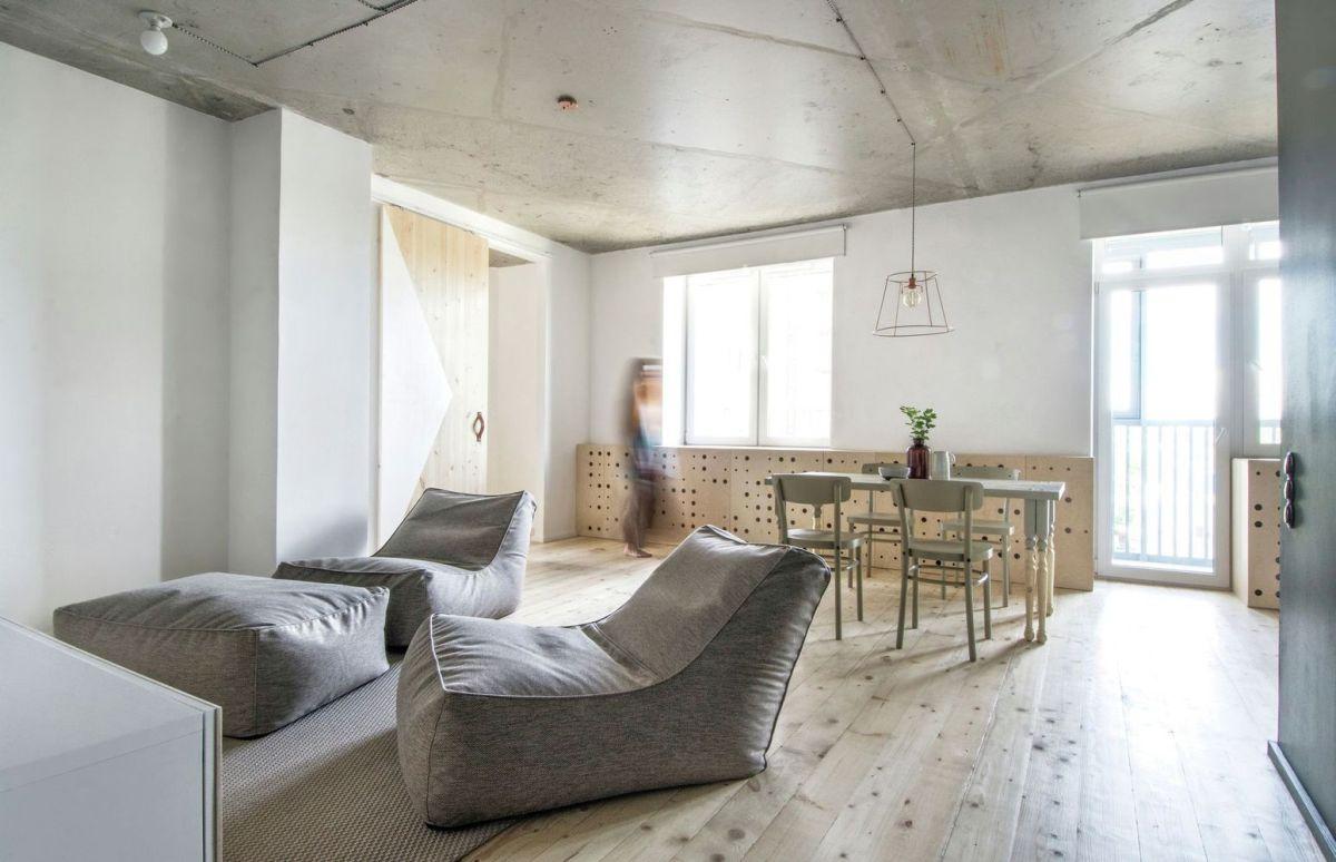 Бюджетный ремонт в однокомнатной квартире с бетонным потолком