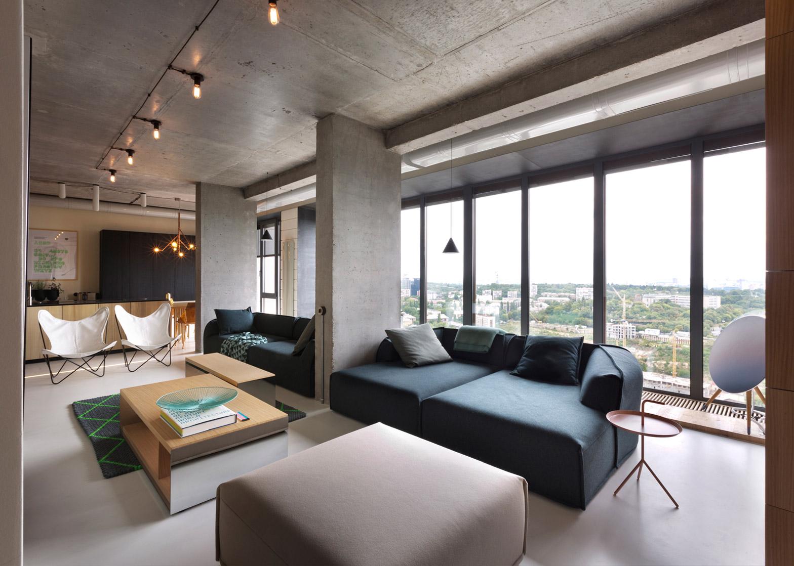 Бюджетный ремонт в однокомнатной квартире в индустриальном стиле