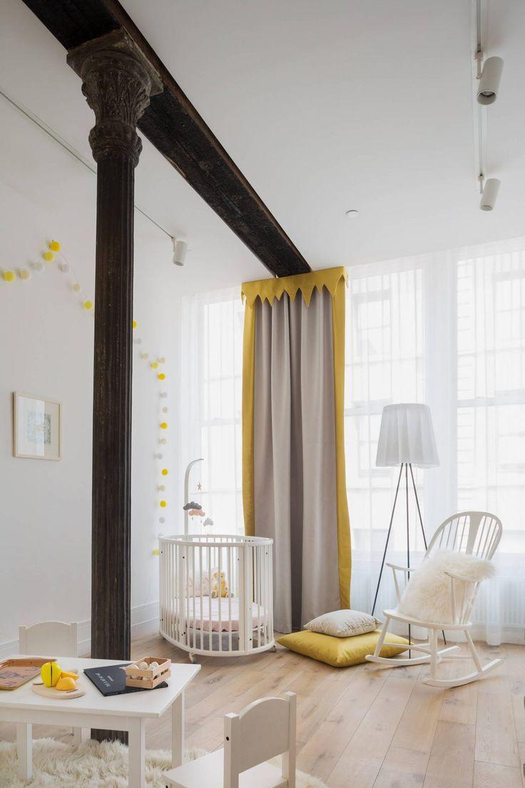 Дизайн однушки с двумя детьми и детской кроваткой