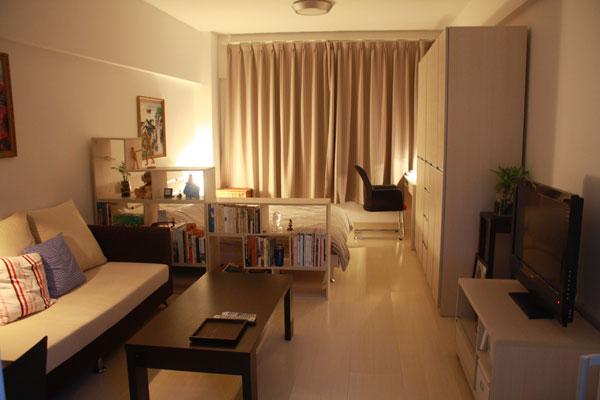 Зонирование жилой комнаты