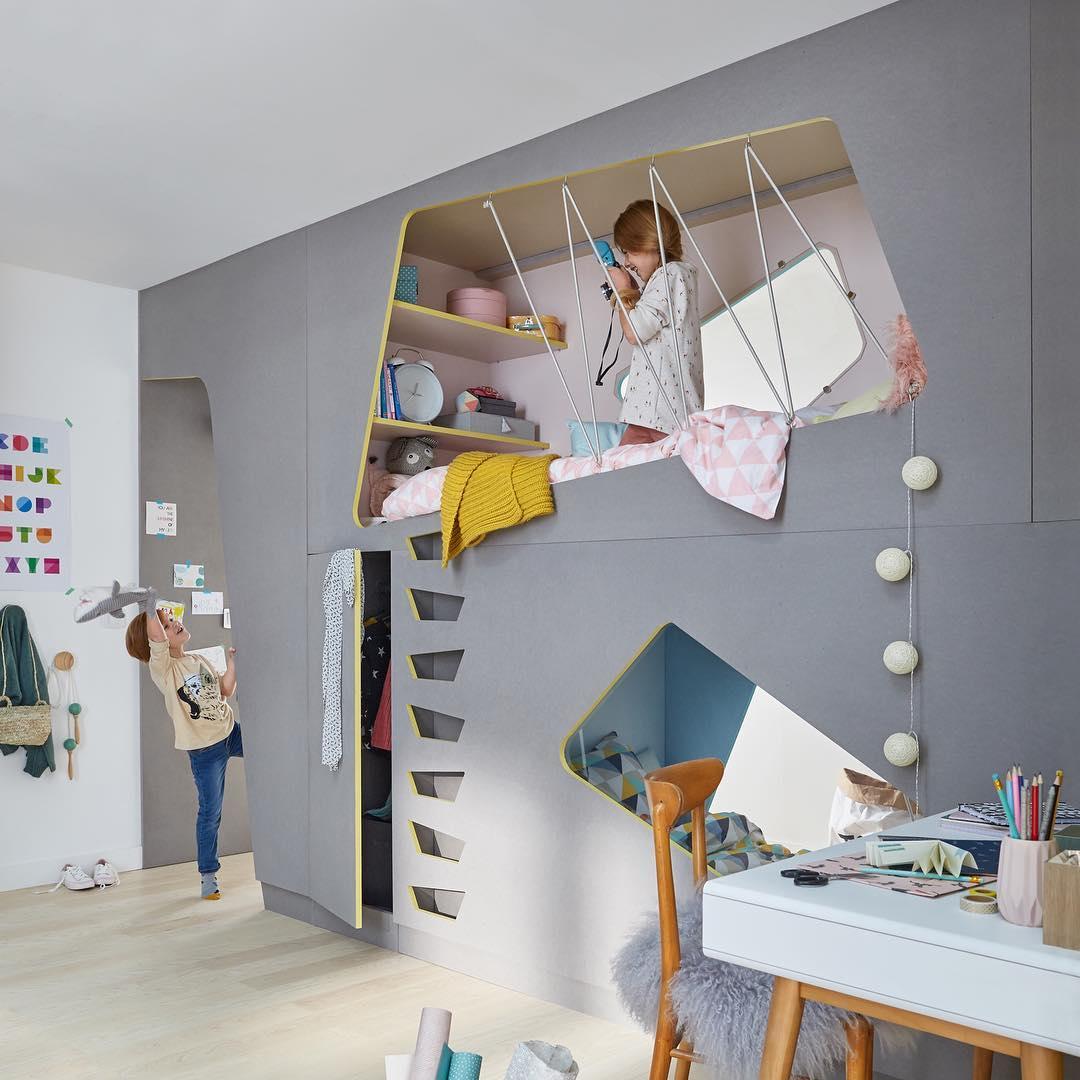 Дизайн однушки с нишами для двух детей