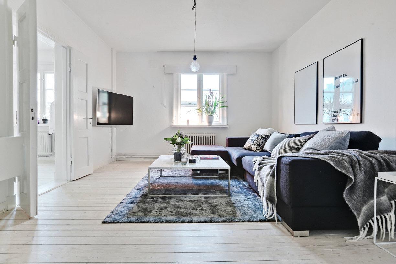 Бюджетный ремонт в однокомнатной квартире в скандинавском стиле
