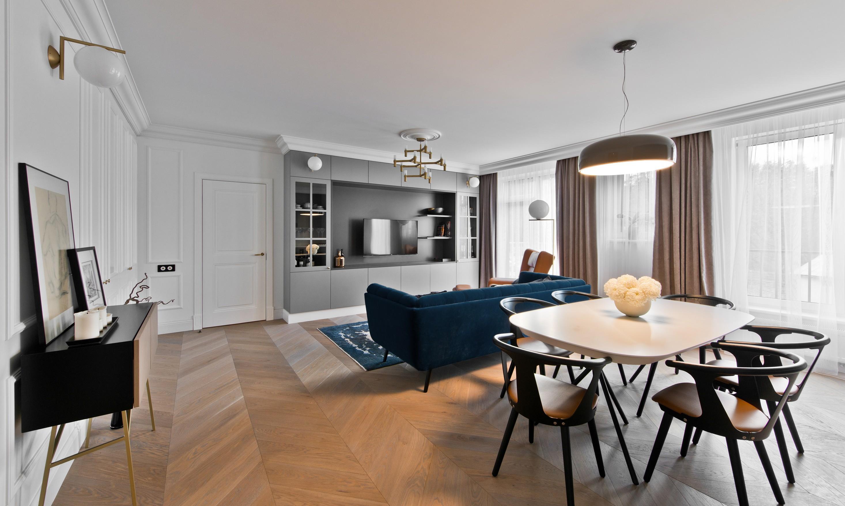Бюджетный ремонт в однокомнатной квартире стильный