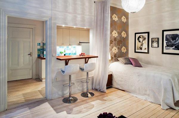 Рабочая зона и зона спальни