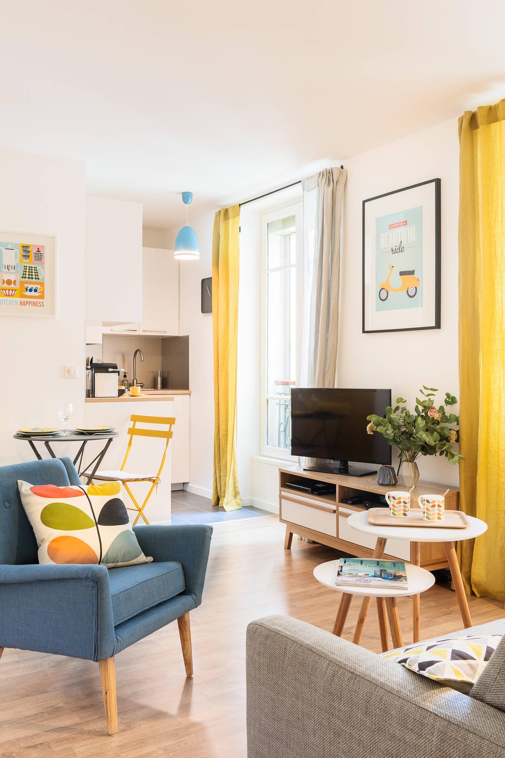 Бюджетный ремонт в однокомнатной квартире зонирование
