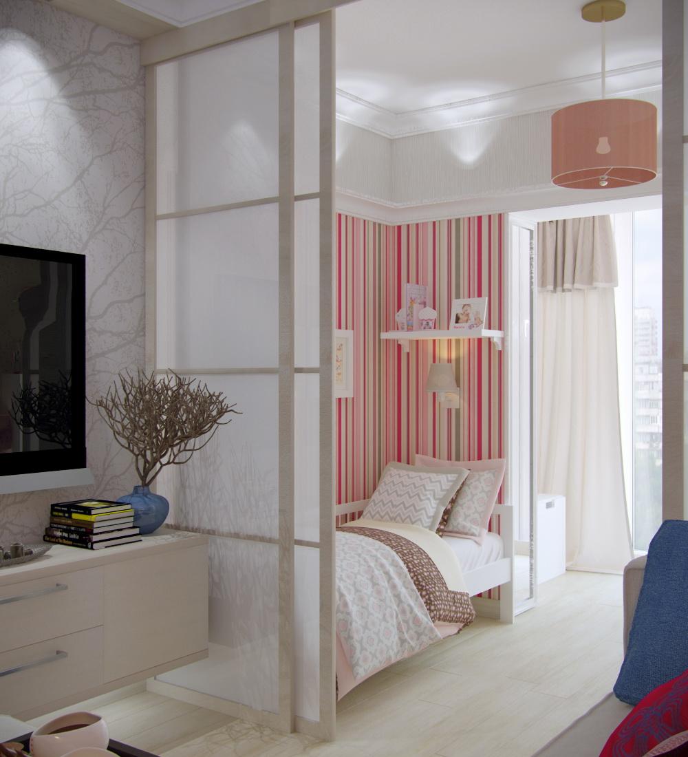 Детская зона для новорожденного с дверями