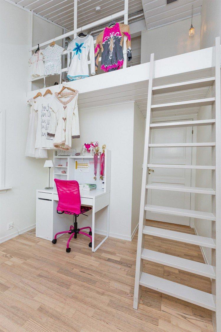 Детская зона для новорожденного двухэтажная