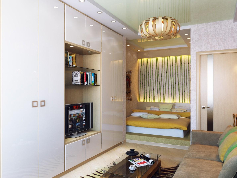 Спальня в нише гостиной