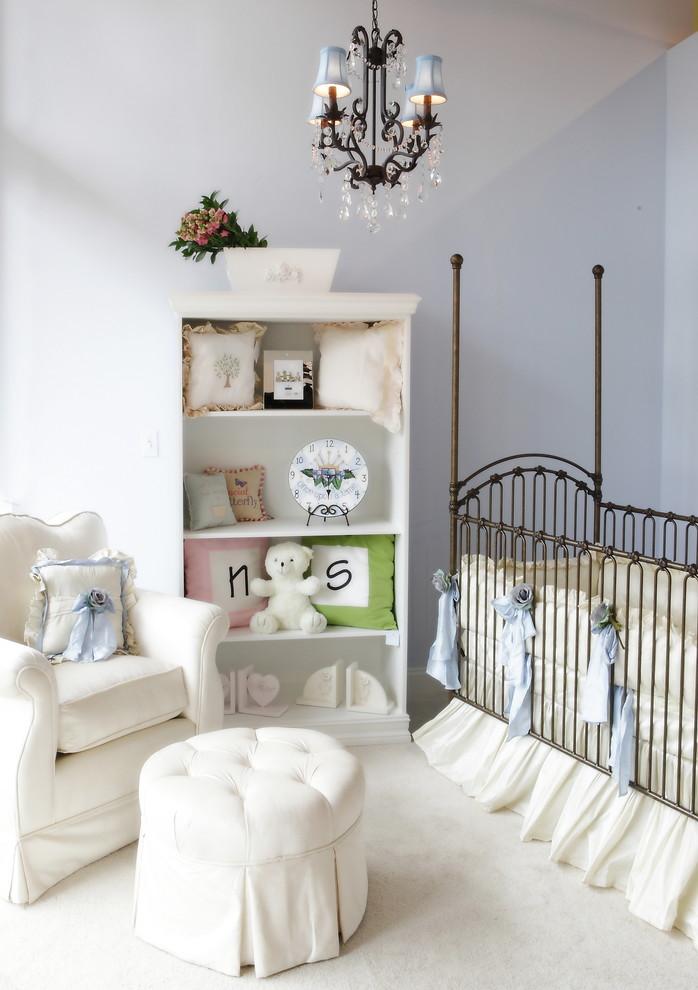Детская зона в гостиной в стиле прованс
