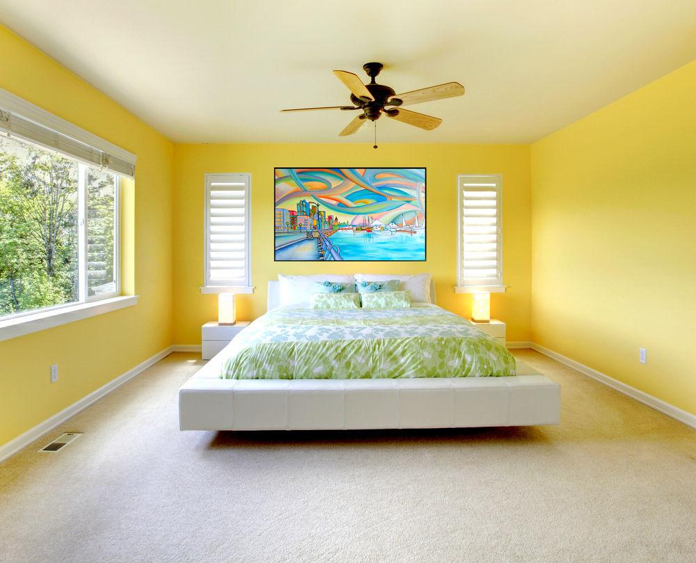 Желтая спальня по фен шуй