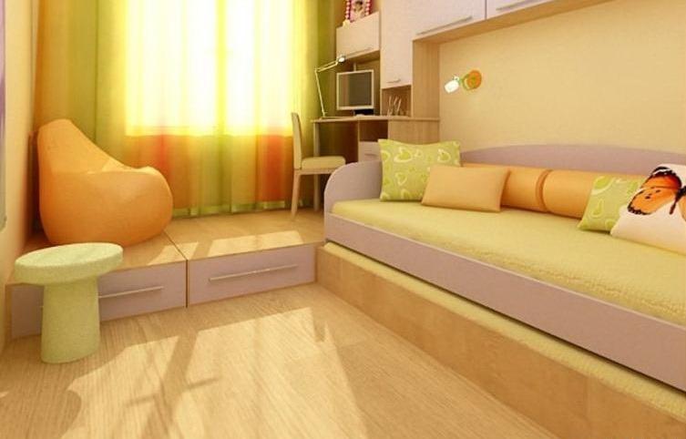 Подиум в интерьере однокомнатной квартиры