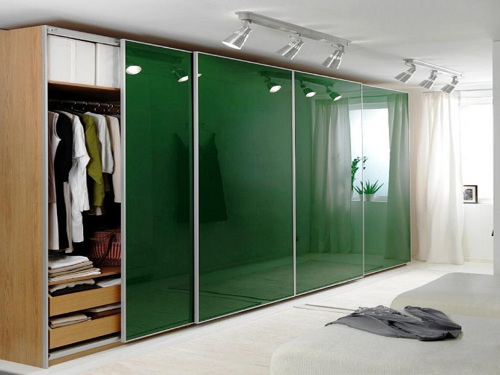 Шкаф купе зеленый