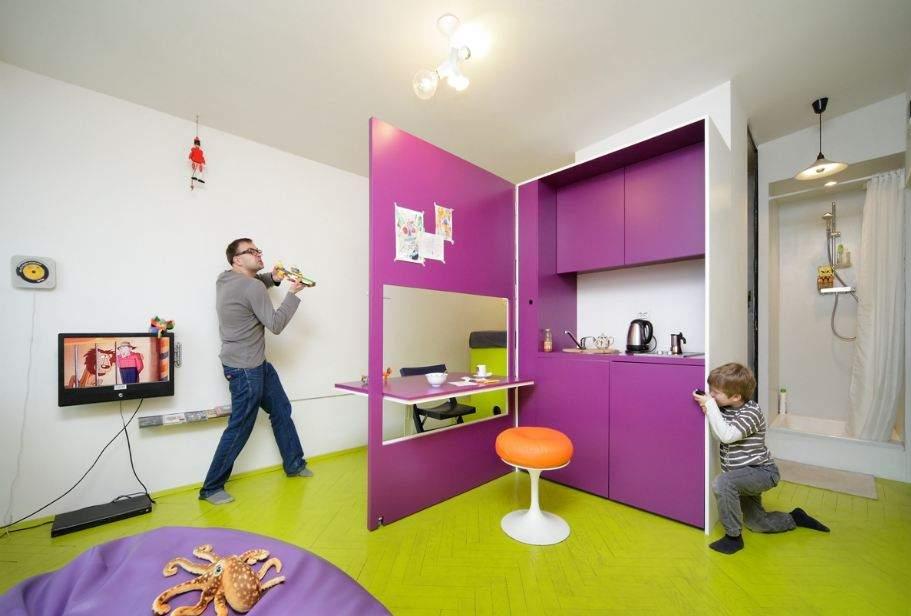 Игра с пространством квартиры