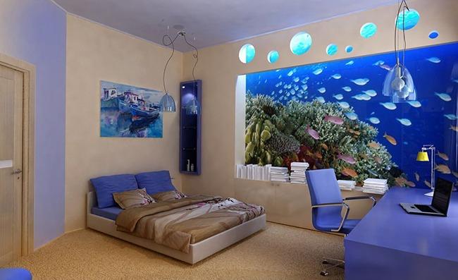 Аквариум в интерьере квартиры: оригинальные решения и варианты расположения