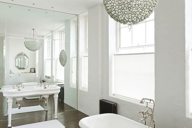 Большие зеркала в ванной