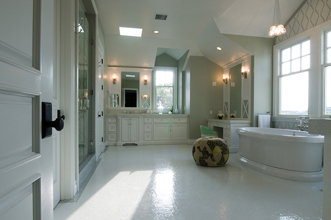 Зеркало в ванной прованс