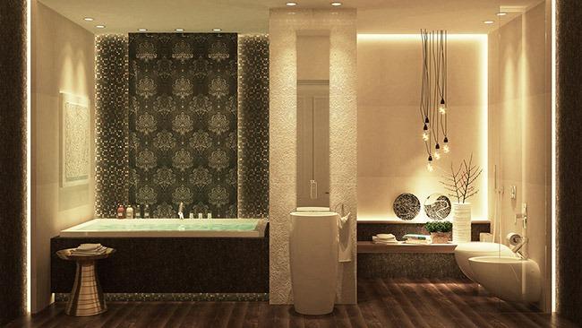Дизайн больших ванных