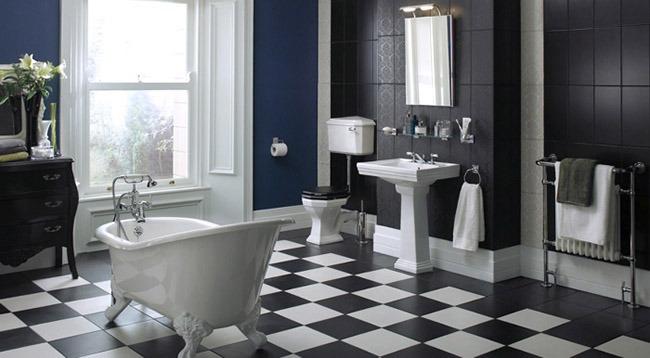 Дизайн ванной большого размера