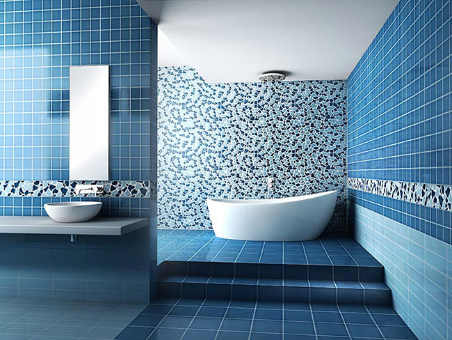 Дизайн интерьера большой ванной