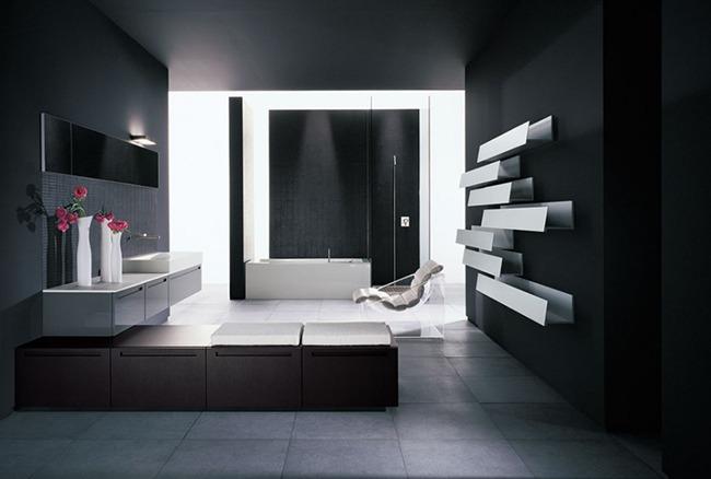 Черный интерьер ванной