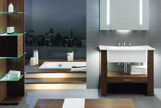Выбор материала для мебели ванной