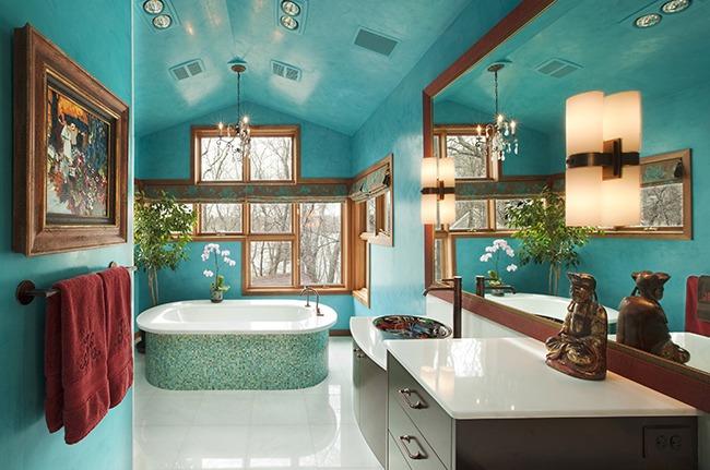 Этнический стиль в ванной