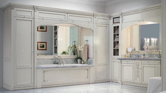 Стильный классический интерьер ванной
