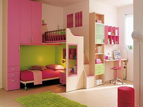 Детская для двух девочек розовая