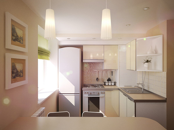 Интерьер кухни 6 кв м