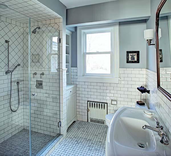 Красивая белая ванная