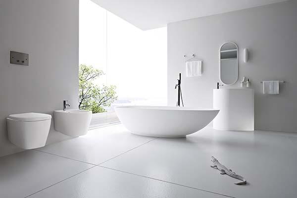 Минималистический стиль ванной