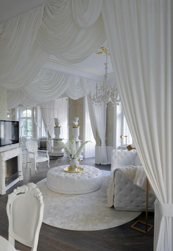 Обстановка однокомнатной квартиры в классическом стиле
