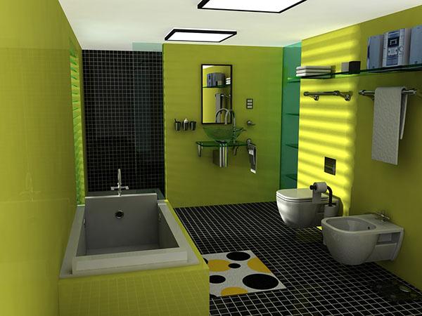 Ванная зеленая