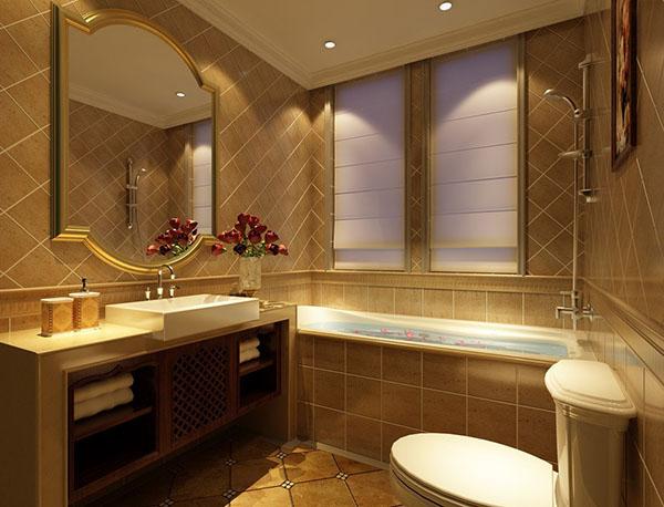 Ванная коричневая