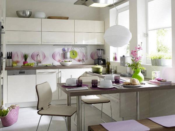Вариант планировки кухни столовой