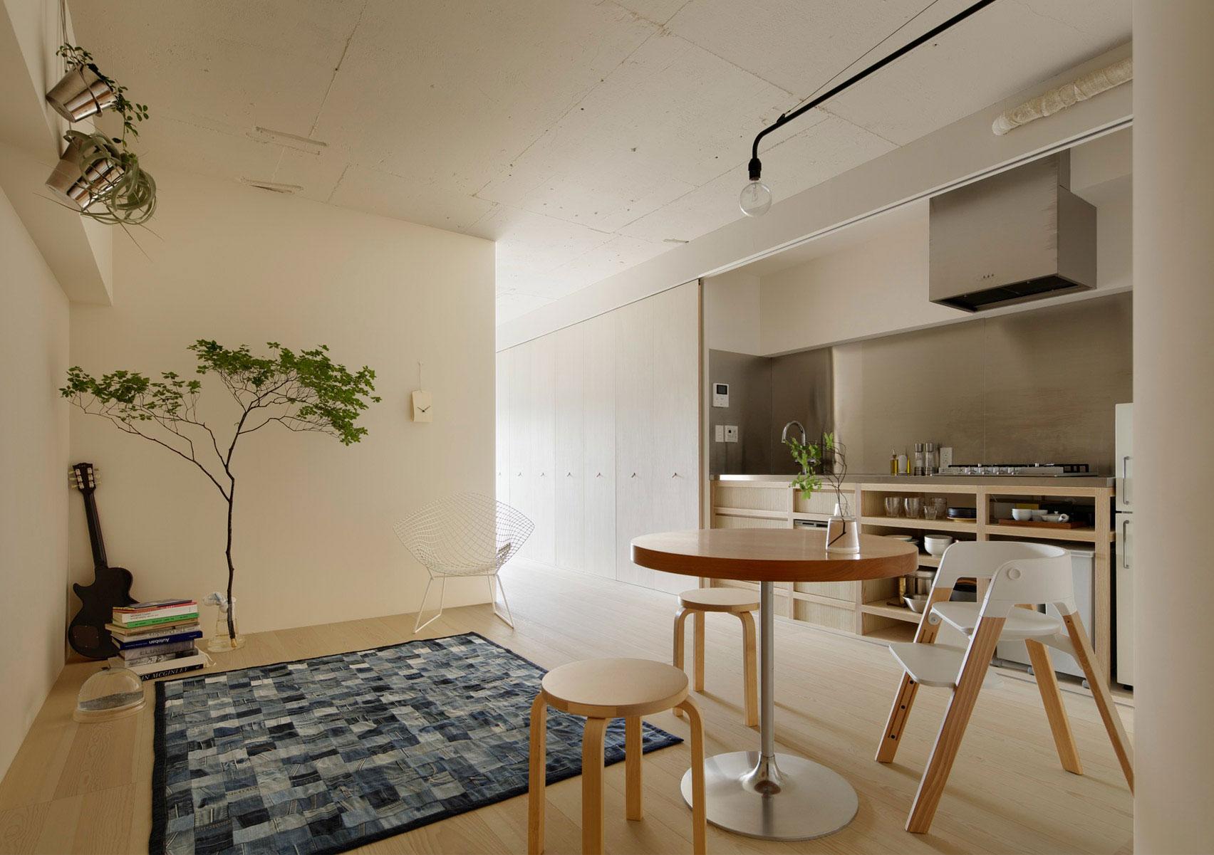 Обстановка однокомнатной квартиры в стиле минимализм
