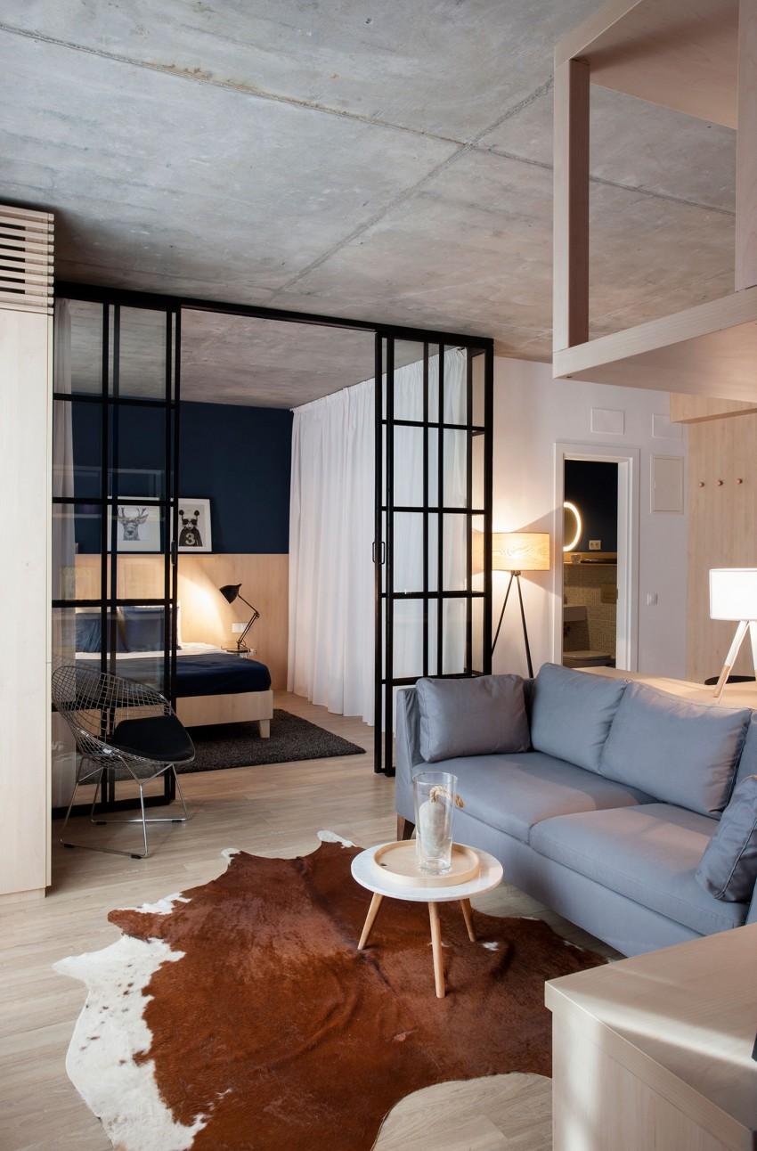 Обстановка однокомнатной квартиры с перегородками