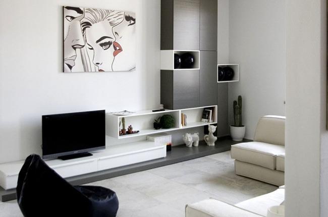 Уютная комната в однокомнатной квартире